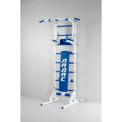 Комбинированная передвижная гимнастическая стенка Универсал /СТУП/ синий ТМ Ладас